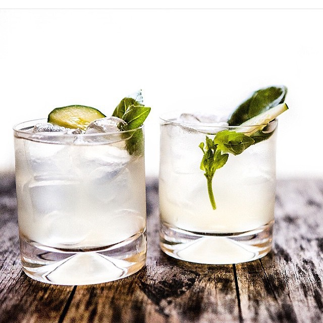 Thyme And Meyer Lemon Gin & Tonic With Cucumber And Basil