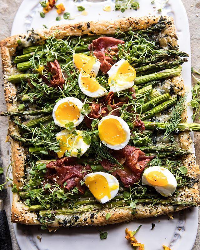 Asparagus, Prosciutto And Egg Tart