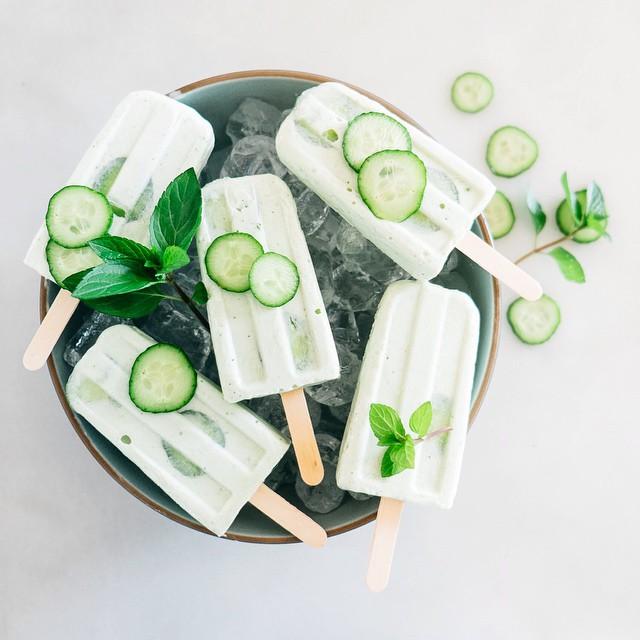 Persian Yogurt (doogh) Popsicles With Honey & Cucumber
