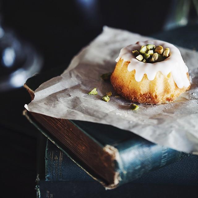 Mini Lemon Bundt Tea Cake With Roasted Pistachios
