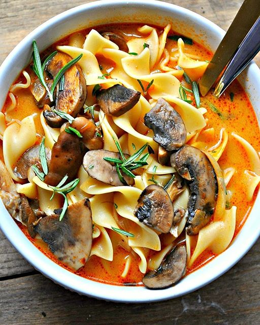 Guys, you may want to make a big pot of my vegan Wild Mushroom Stroganoff Soup cause it's still…