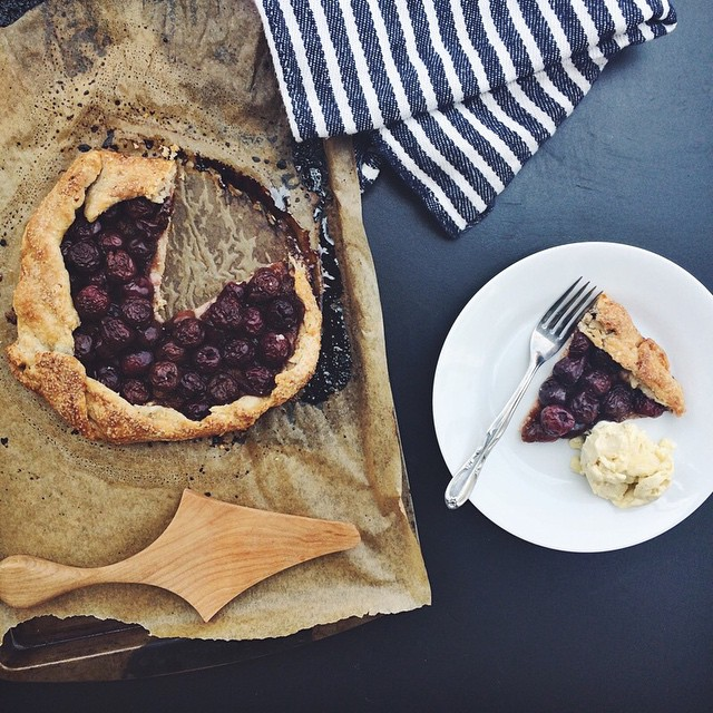 Sweet Cherry Galette With A Cornmeal Crust