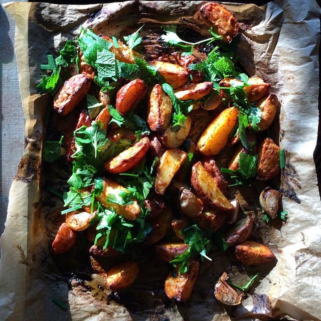 Roasted Potato And Herb Salad