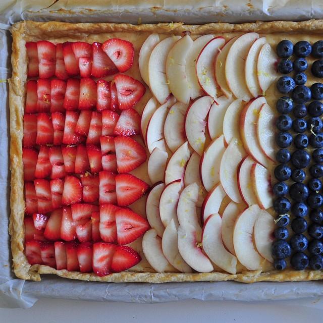 Red, White & Blue Lemon Tart