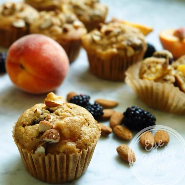 Peach-blackberry Muffins