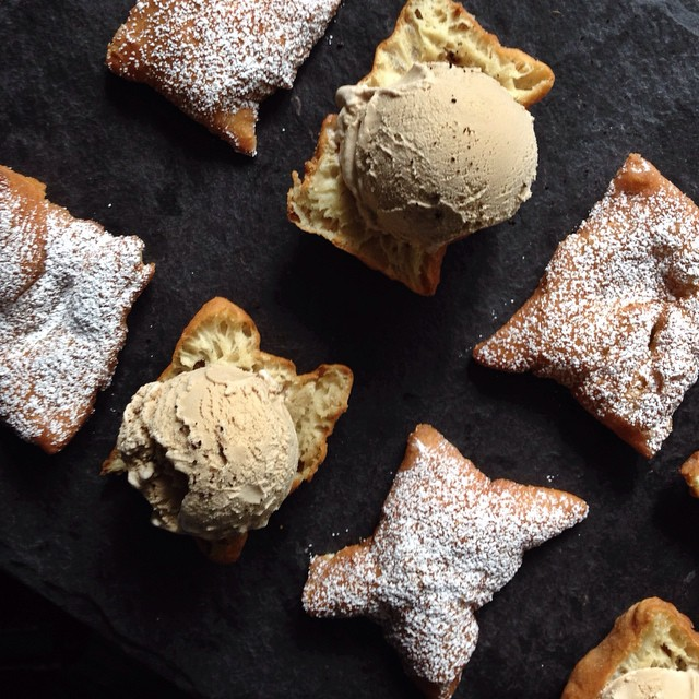 Beignet & Coffee Ice Cream Sandwiches (no-churn)