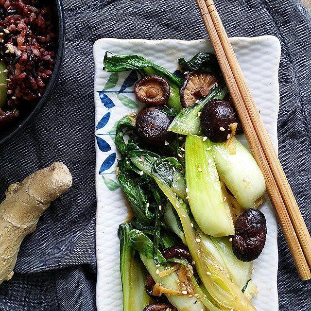Bok Choy And Mushrooms