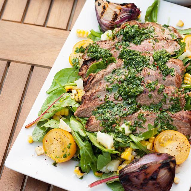 Marinated Flank Steak Summer Salad With Chimichurri