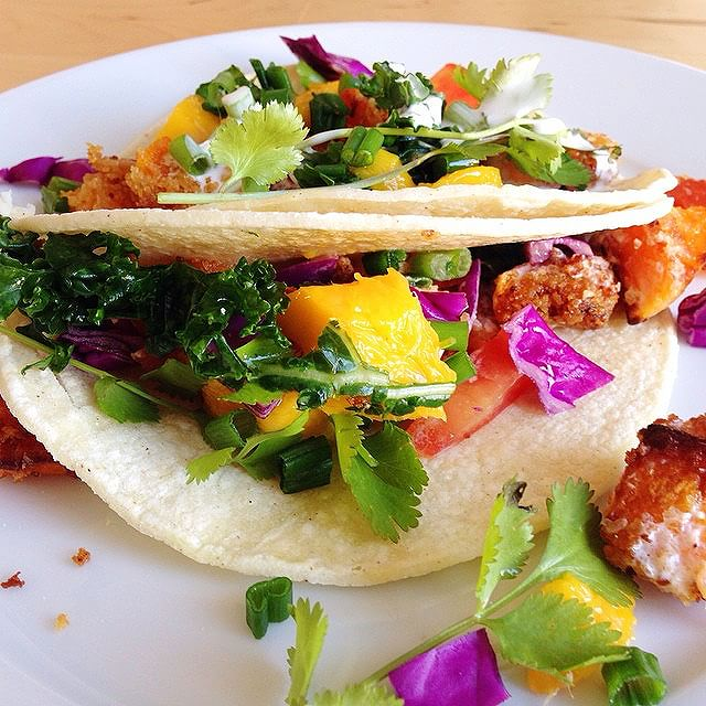 Roasted Squash & Kale Tacos