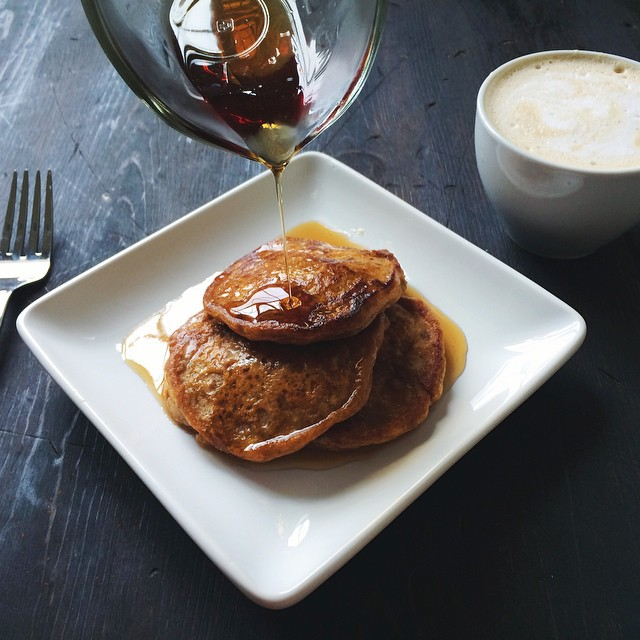 Celebrating the cooler weather with pumpkin pancakes! Don't you just love pumpkin !