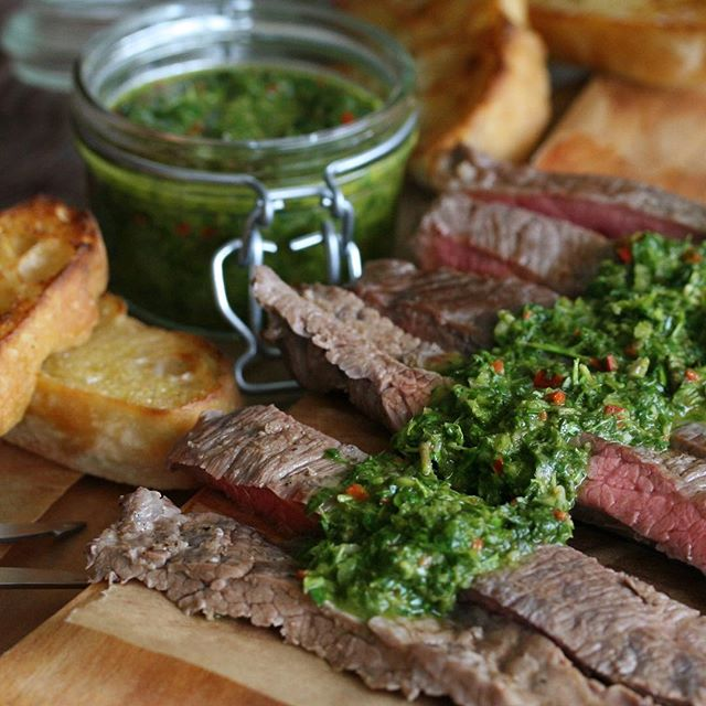 Grilled Skirt Steak With Spicy Chimichurri on chimichurri steak