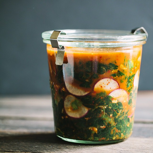 Spicy Kale And Radish Kimchi