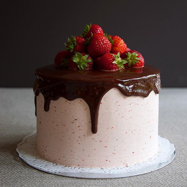 Chocolate Glazed Strawberry Cake TheFeedFeed