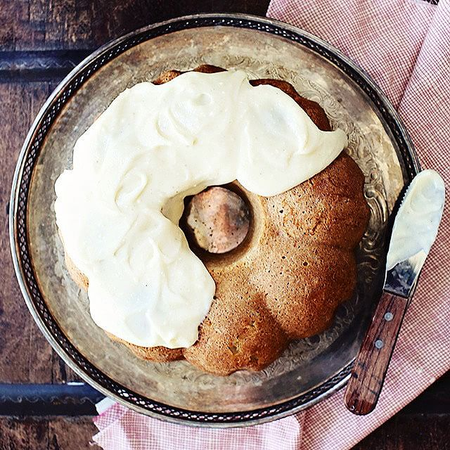 Chai Spiced Apple Bundt Cake With Mascarpone Icing