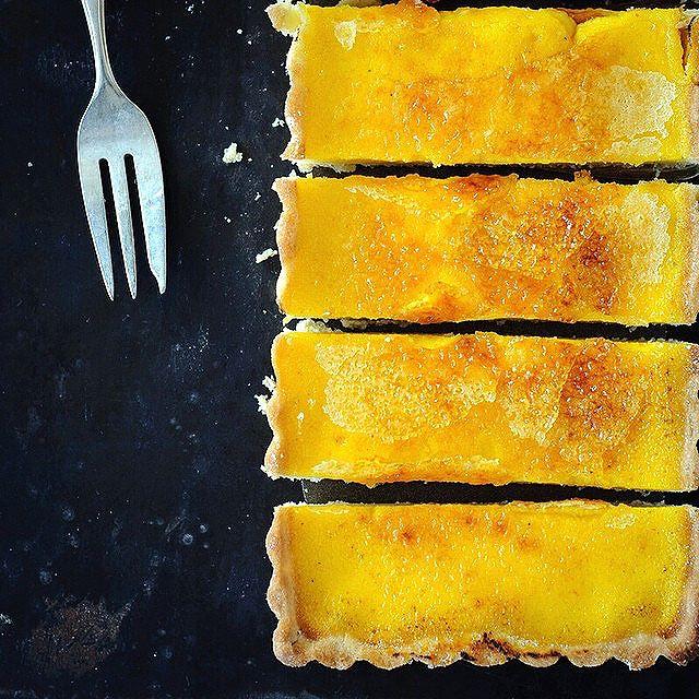 Pumpkin Tarte Brûlée With Cardamom Crust & Creme Fraiche