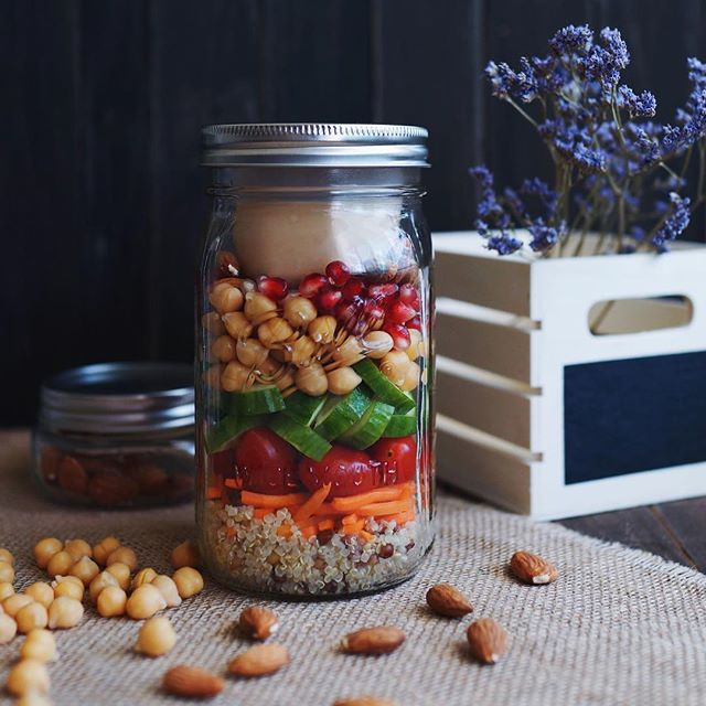 "Busy day with the boys means lunch-on-the-go! | ""Salad in Jar""…"