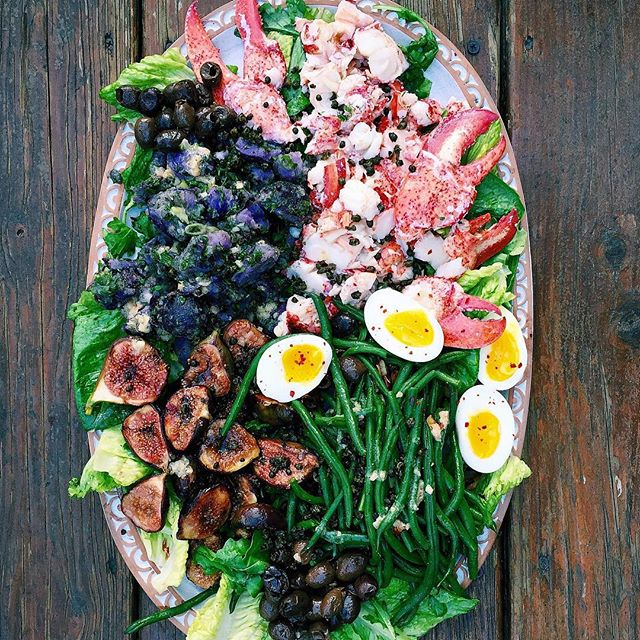 Lobster Niçoise Salad With Balsamic Figs