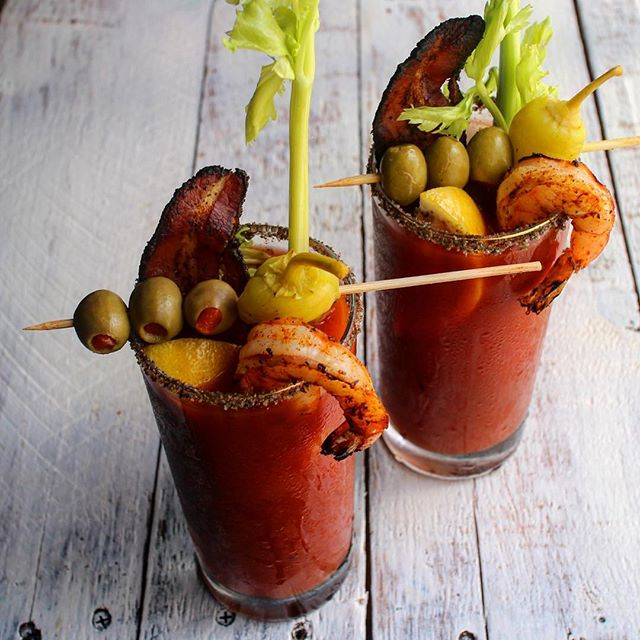 Sriracha Bloody Mary With Bacon