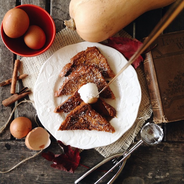 French Toast With Pumpkin Pie Spice With Molasses