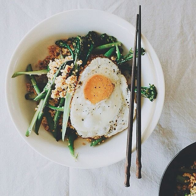 Stir-fried Vegetable Millet With Sugar Snap Peas & Broccolini