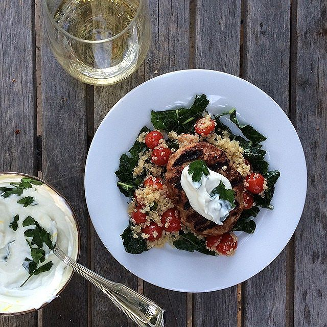 Middle Eastern Turkey Kebab With Lemon Kale & Quinoa Tabbouleh