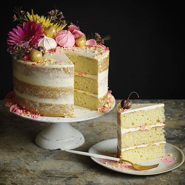 Vanilla Lemon Curd Birthday Cake Recipe Thefeedfeed