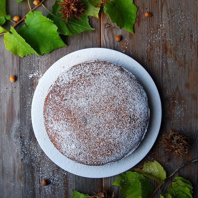 Hazelnut Buckwheat Cake With Cinnamon Sugar