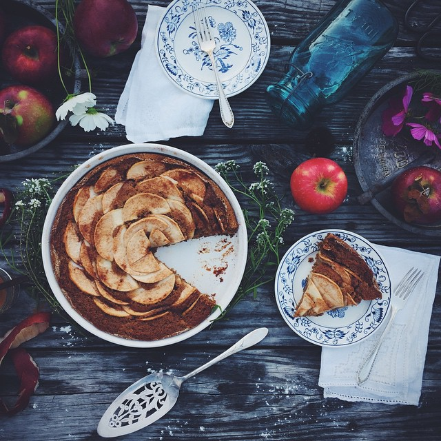 Maple Spiced Apple Cake (vegan)
