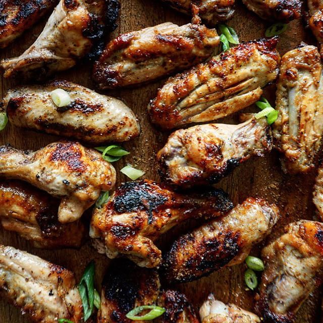 Grilled Old Bay Chicken Wings In Honey
