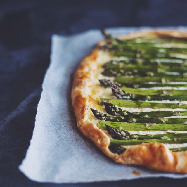 Lemon & Asparagus Sour Cream Galette With Homemade Ricotta