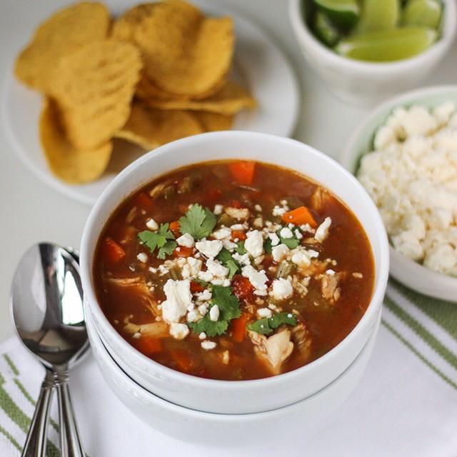 Green Chile & Pinto Bean Chicken Soup