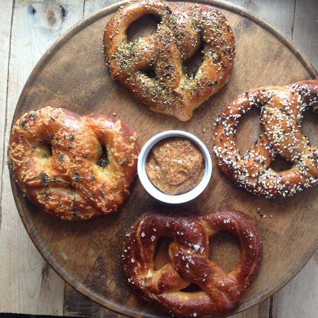 Sesame Seed And Irish Cheddar Oktoberfest Pretzels