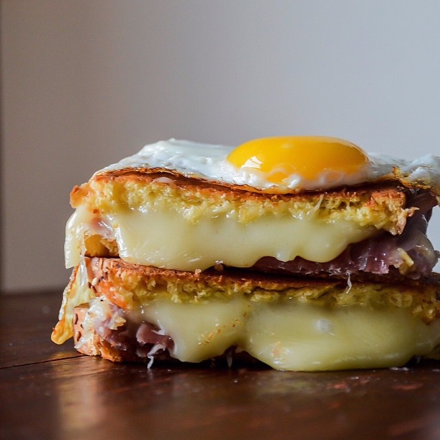 Sunny Side-up Egg Grilled Cheese (the Art Of Grilled Cheese)