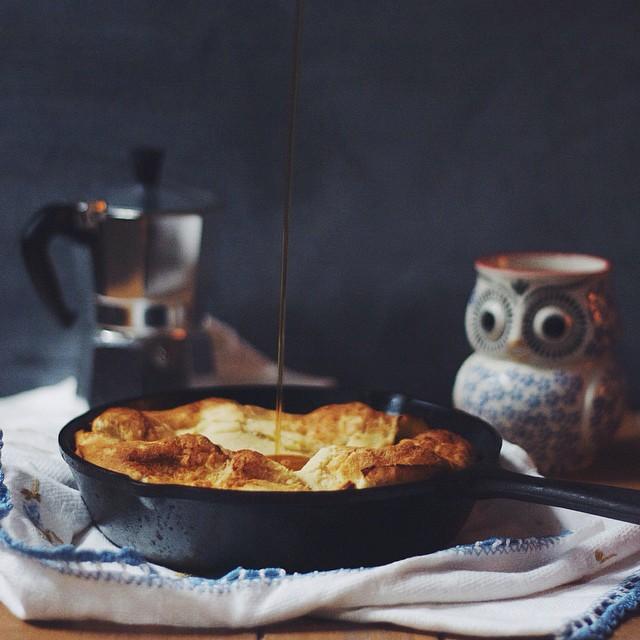 Cinnamon Apple Skillet Pancake