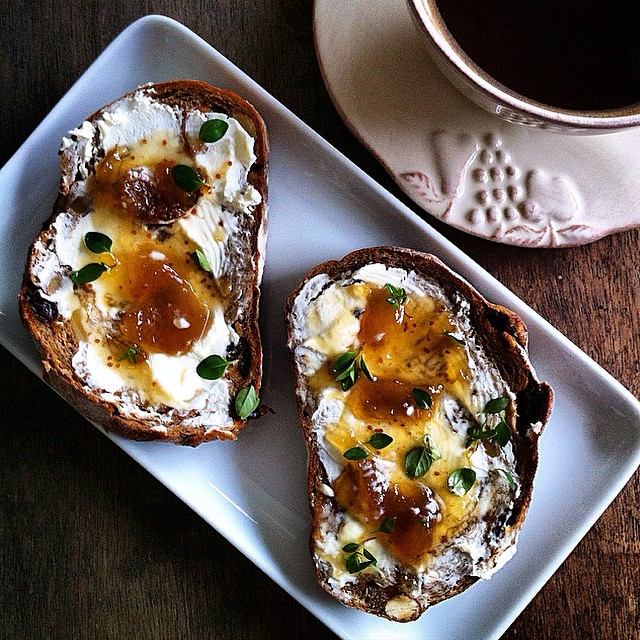 Walnut Rye With Thyme & Lemon Fig Jam