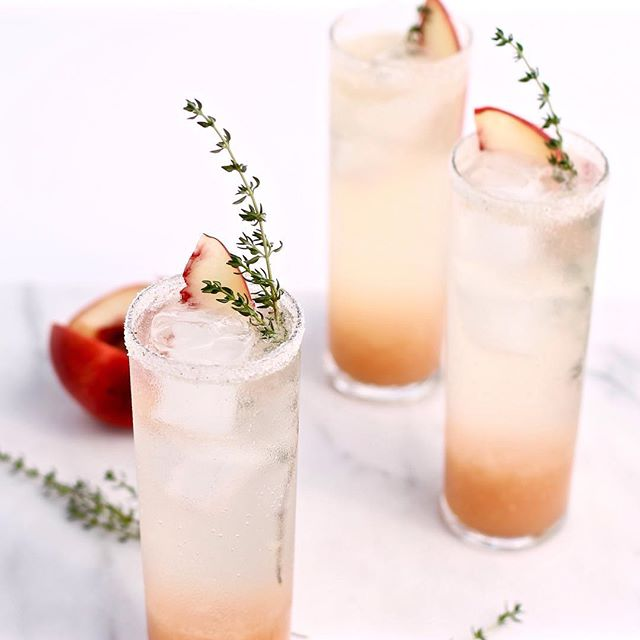 Honeyed Ginger Bourbon White Peach Fizz