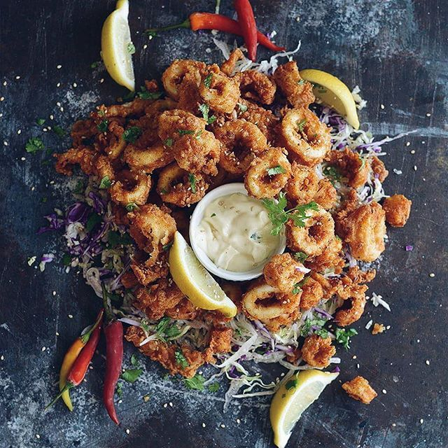 Fried Calamari With Lemon Aioli By Theforkbite Quick Easy Recipe The Feedfeed
