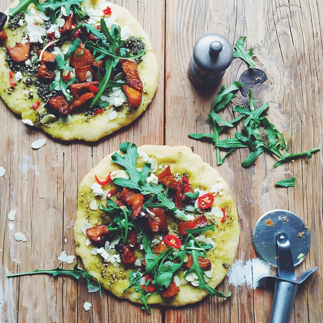 Millet Pizza With Za'atar & Spiced Roasted Pumpkin