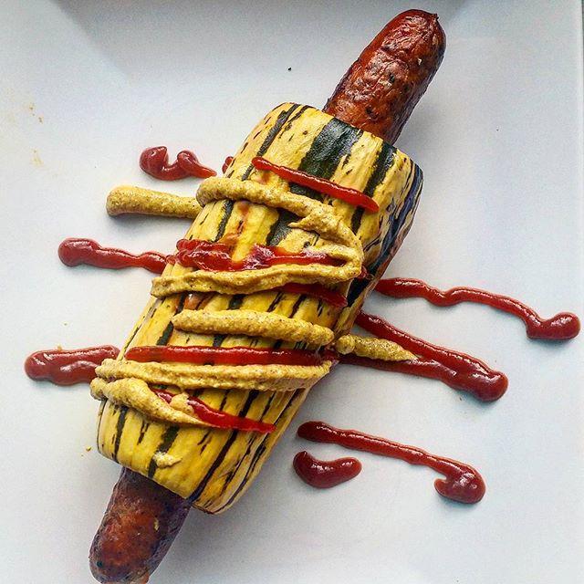 Paleo Delicata Squash Hot Dog