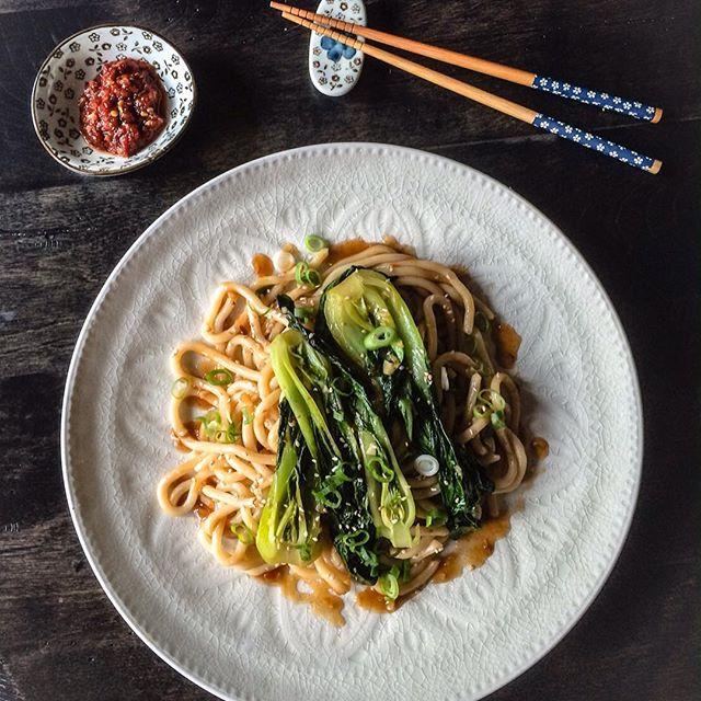 Sautéed Bok Choy With Udon Noodles