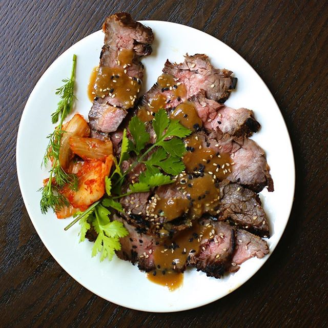 Spicy Asian Marinated Grilled Flank Steak