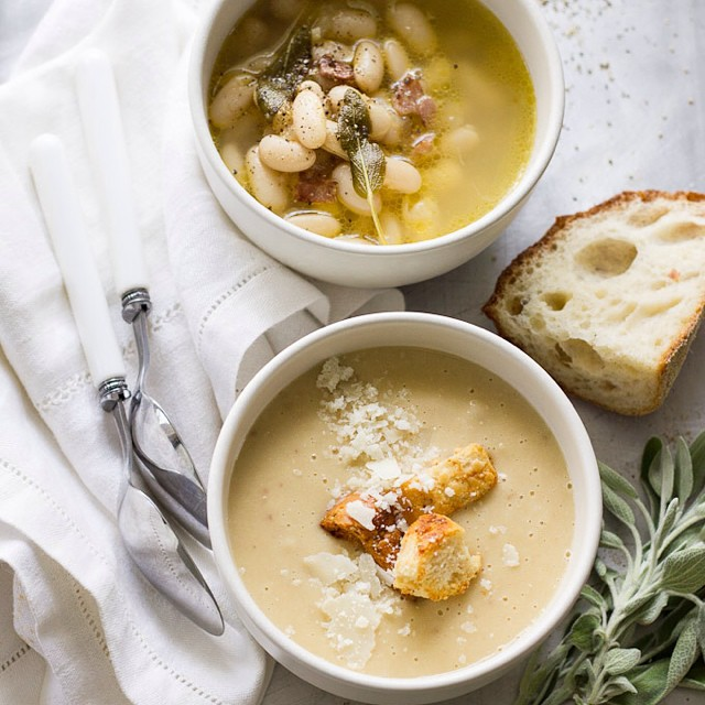 Tuscan White Bean Soup - 2 Ways!