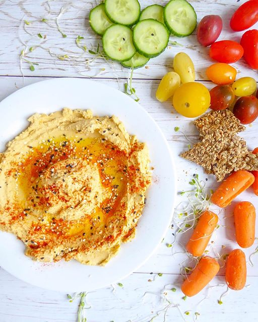 Roasted Squash Hummus Dip