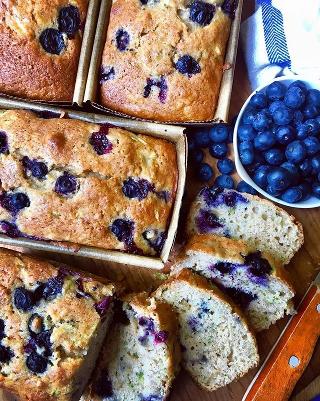 Mini Blueberry Zucchini Loaf Cakes