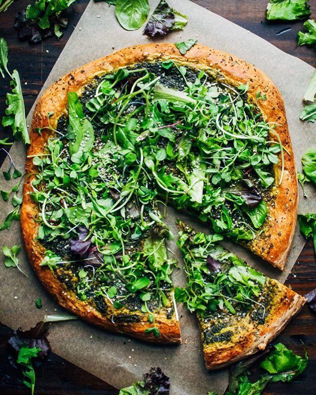 Pesto Pizza with Cashew Cheese