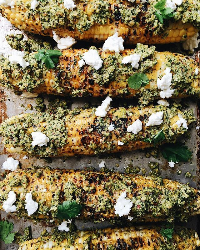 Pistachio Pesto Corn On The Cob