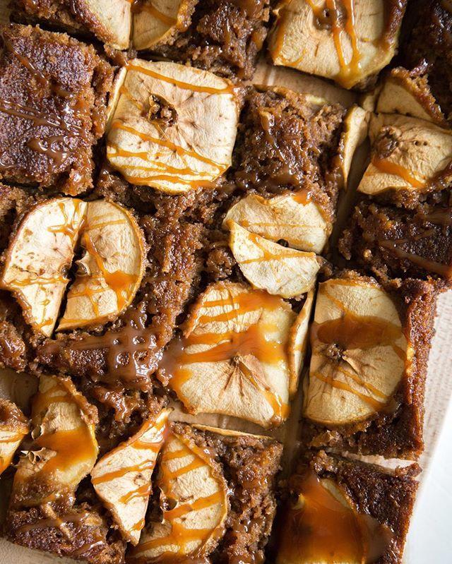 Caramel Topped Apple Sheet Cake