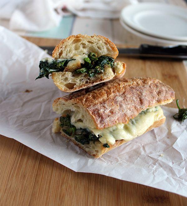 Broccoli Rabe and Deli American Sandwich