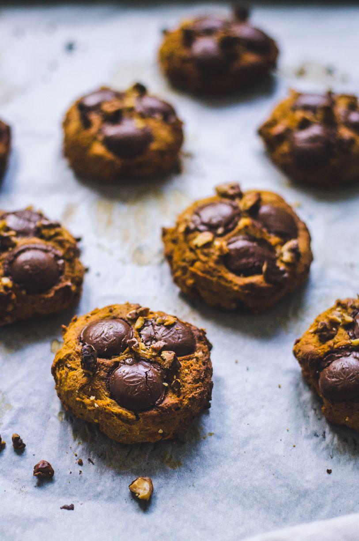 Chocolate Button Pumpkin Cookies