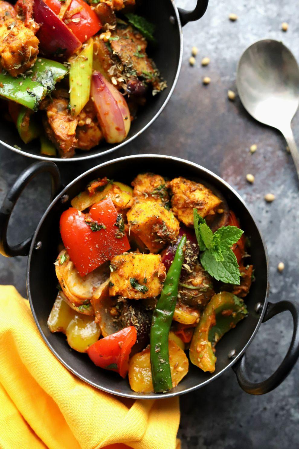 Tofu and Vegetable Kadai